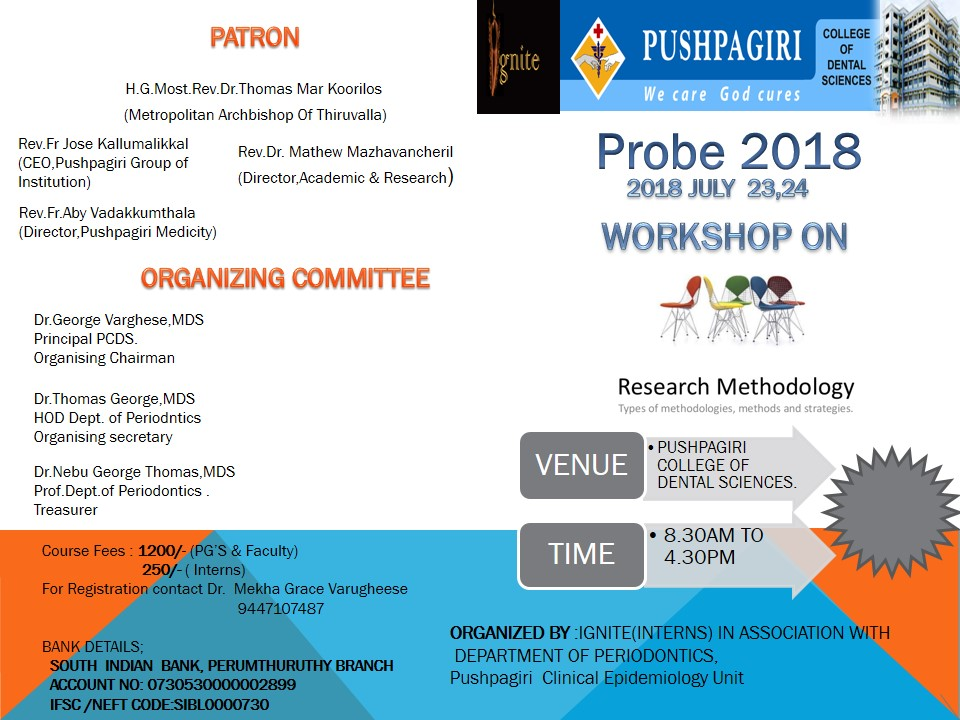 Probe 2018 Workshop on Research Methodology